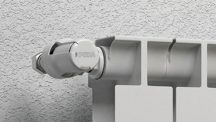 Válvulas con cabezal termostático en los radiadores