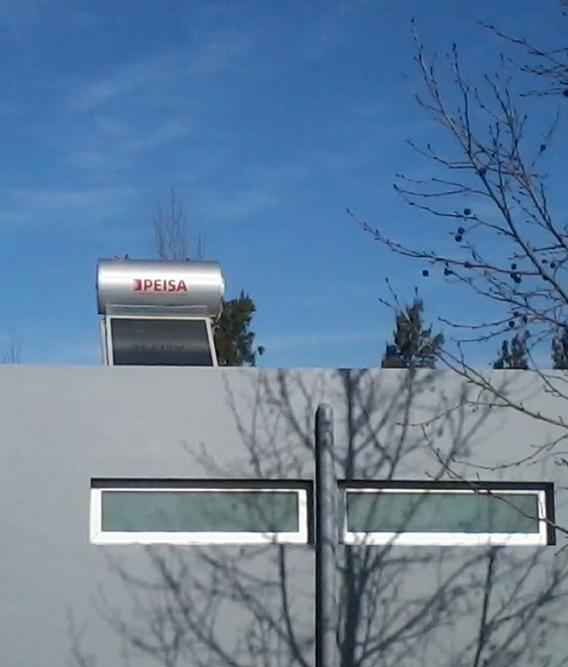 Termotanque solar - ambientada